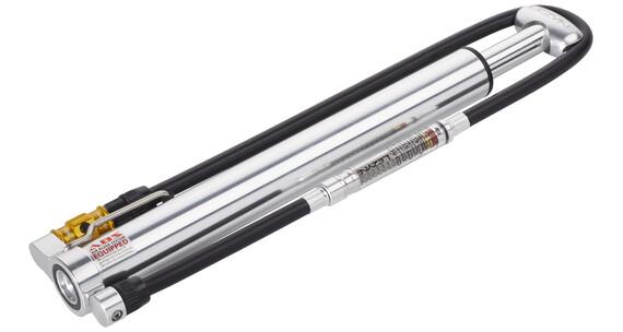 Lezyne Micro Floor Drive HVG mit Luftdruckmesser silber